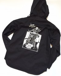 "SIRANOBROS/シラノブロス SHIRT PARKA ""DEATH TRAP"" BLACK"
