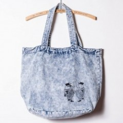 "SIRANOBROS/シラノブロス Denim Tote Bag ""Mr.T & Mr.Y"""