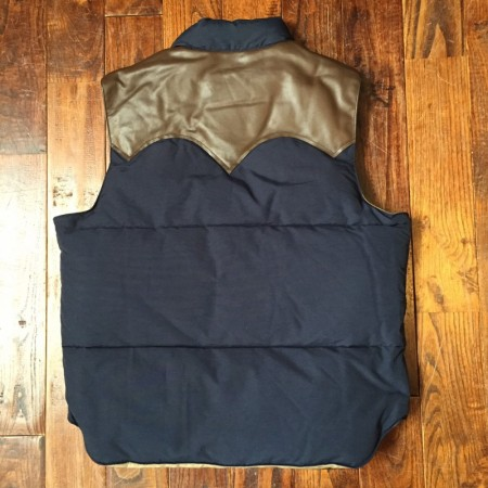 Suger cane/シュガーケーン Yoke Leather Down Vest ダウンベスト