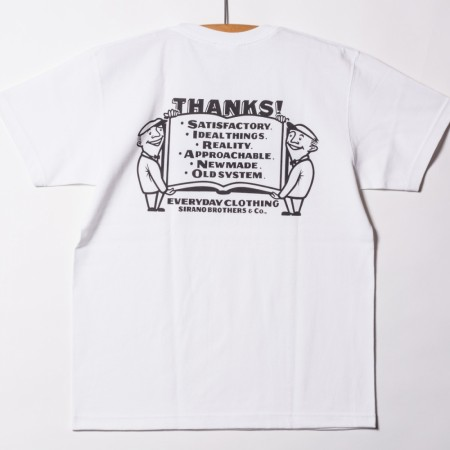 "SIRANOBROS/シラノブロス 7.1oz T-shirts ""THANKS!"""