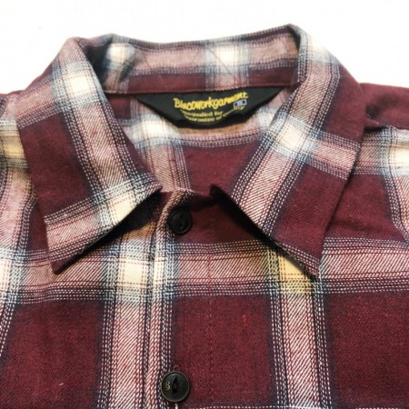 BLUCO/ブルコ OL-047-018 OMBRE CHECK SHIRTS RED
