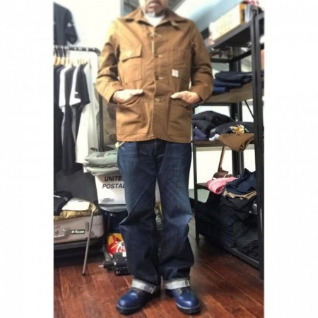 HEADLIGHT ヘッドライト 13oz. BROWN DUCK WORK COAT ワークコート
